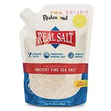 Redmond Real Salt, Ancient Fine Sea Salt, Unrefined Mineral Salt, 16 Ounce