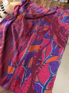Christian Fischbacher Designer Large Silk Scarf.. Lovely.