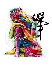 Large incorniciato astratto Stampa-Colorato Buddha (FOTO ARTE BUDDISTA Mandala)