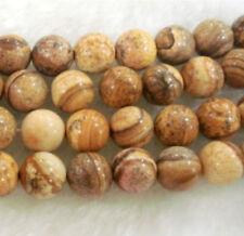 8 mm Perles , ronde, chinois, image, pierre, pierres précieuses,en vrac,38cm