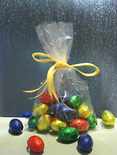 """CLEAR OPEN ENDED CELLO CELLOPHANE BAGS x 100 - 127 x 204mm (5"""" x 8"""")"""