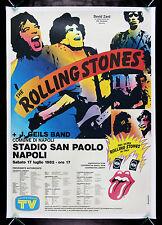 ROLLING STONES * CineMasterpieces 1982 ORIGINAL ITALIAN TOUR MUSIC ROCK POSTER