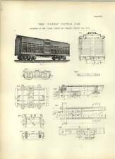 1893 CANDA bovins Voiture Chicago plans dessins