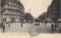 Le Havre le boulevard de strasbourg   76  tramway