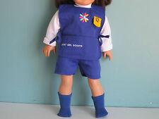 5-pc DAISY GIRL SCOUT UNIFORM: Apron, Hat, Tee, Shorts, Socks fits American Girl