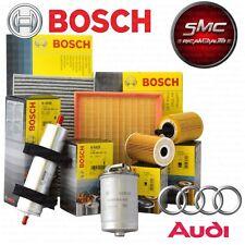 Kit tagliando 4 FILTRI BOSCH AUDI A4 1.9 TDI B6 dal 2000 al 2004 AVF