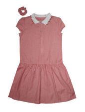 Red Gingham School Dress & Scrunchie 9 years