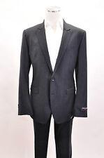NWT $1975 Dolce & Gabbana Mens 100%Virgin Wool Gray Pin Stripe 2Pc Suit 54/44US