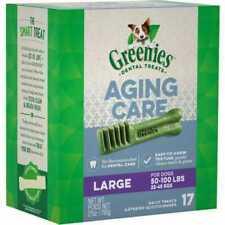 GREENIES Complete Aging Care Dental Treat Large Dog 50 -100 Lbs 17 Treats 27oz