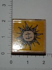 Sun Happy Face Wood Mounted Rubber Stamp Cards Scrapbooking S14