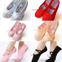 Child Adult Canvas Ballet Dance Shoes Slippers Pointe Dance Gymnastics #20 Size
