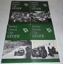 Bentley Drivers Club Review 1979, 4 Issues, 131 Feb, 132 May, 133 Aug, 134 Nov
