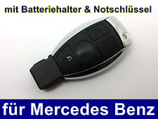 3T Schlüssel mit Batteriehalter Notschlüssel für Mercedes Benz W203 W204 Chrom