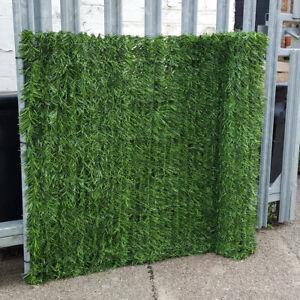 Artificial Conifer Hedge Plastic Garden Fence Privacy Screening Balcony 1m x 3m