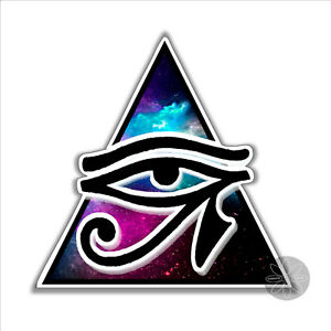 Eye of Horus protection symbol Egyptian pagan vinyl sticker car bumper 93 x 91mm