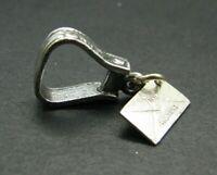 Vintage BELL TRADING CO. Sterling Silver BRACELET CHARM Stirrup Horse N.DAKOTA