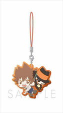 Hitman Reborn and Tsuna Sealand Rubber Phone Strap Anime Manga NEW
