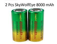 2 PILES ACCU RECHARGEABLE SkyWolfEye 26650 3.7v 8000mAh Li-ion BATTERIE