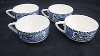 Set of 4 Currier & Ives Royal China Horse and Buggy Coffee Cup Old Grist Mill