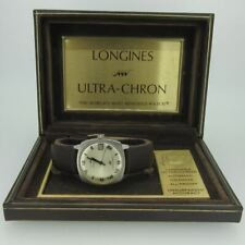 Vintage Longines Ultra-Chron Calendar Swiss Stainless Steel Watch with Box