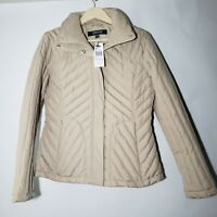 Kenneth Cole Reaction Womens Size Medium Oatmeal / Beige Winter Quilted Coat NWT