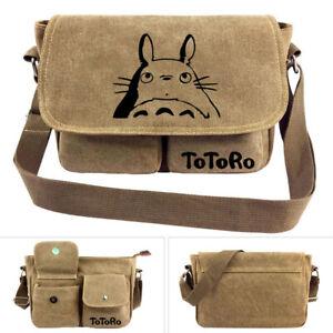 Anime My Neighbor Totoro canvas Men casual Shoulder bag Messenger Bag Crossbody