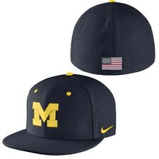 Nike Michigan Wolverines USA Flag Dri-Fit Aerobill Fitted Hat Sz. 7 New with Tag