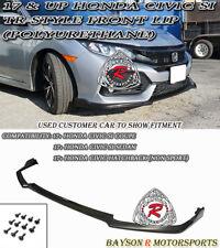 TR-Style Front Lip (Urethane) Fits 17-19 Honda Civic Si