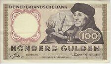 NETHERLANDS BANKNOTE P88-5741 100 GULDEN 2.2.1953 PREFIX 5 K B,  VF