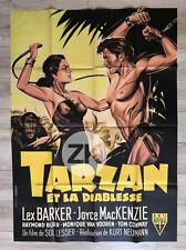 TARZAN AND THE SHE-DEVIL Diablesse FOUET SM Eléphant Singe SOUBIE Affiche 1953