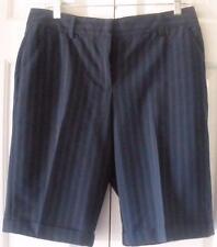 "Kenneth Cole Reaction Womens Navy Blue Cuffed Dress Shorts Size 10 34"" Waist"