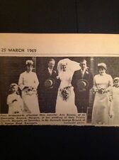 A1-4 Ephemera 1969 Picture Wedding Jennifer Bussey Margate Kenneth Bryant Ramsga