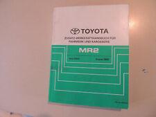 Ergänzungs - Werkstatthandbuch Toyota MR2 ZZW30 Ausgabe 08.2002