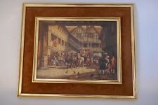 VINTAGE FRANK MOSS BENNETT  OF THE REPRODUCTION OIL PAINT HORSE SIGNED WALL ART