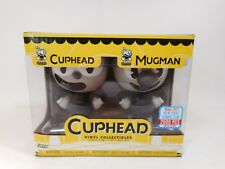 NYCC EXCLUSIVE FUNKO B&W CUPHEAD & MUGMAN VINYL COLLECTIBLES SET SEALED MIB