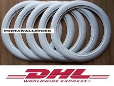 14'' White Wall Tyre Insert Trim Port-a-wall -Set of 5