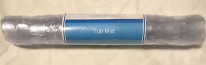 """Comfort Bay Ring Tub Mat With Suction Cups 13.3""""W X 26.3""""L, Clear, NEW"""
