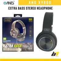 ANG XY800 Wired Over-Ear Headphones Adjustable Headband Headset Black