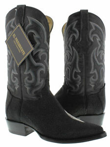 mens genuine stingray skin exotic leather western cowboy boots crocodile rodeo
