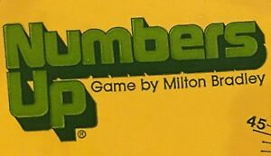 NUMBERS UP Vintage 1981 Milton Bradley Game Replacement Part - PAPER FACEPLATE