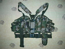 07's series China PLA Army Woodland Digital Camo Combat Tactical Vest,Set,H