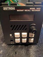 Phone Landline Recorder (Zetron Model 3022 Instant Recall Recorder)