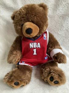 "Build A Bear ""BEAR"" Workshop NBA Basketball Uniform Red White Blue 2 Piece NBA1"