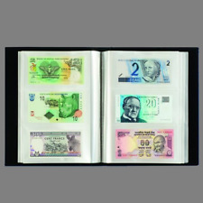 Lighthouse Currency Album for 300 Banknotes 100 Pages Black