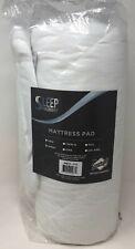 Sleep Philosophy - Serenity 3M Scotchgard Waterproof Mattress Pad in White Queen