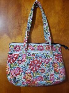 Vera Bradley Tote Bag Purse Retired Hope Garden Pattern