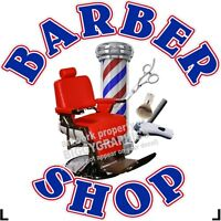 """24"""" X 24""""    VINYL DECAL FOR BARBER SHOP HAIR DRESSER WALL OR WINDOW NEW!"""