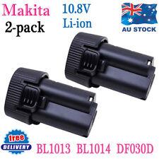 2x 10.8V Li-ion Battery for Makita BL1013 BL1014 LCT203W DF030DWX TD090DWX 2.0Ah