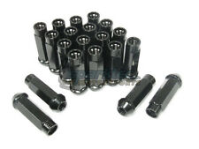NNR Steel Extended Wheel Lug Nuts Open Ended 70mm Black 12x1.5 20pcs