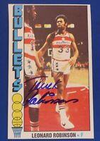 TRUCK ROBINSON signed autograph auto 1976-77 Topps Phoenix Suns